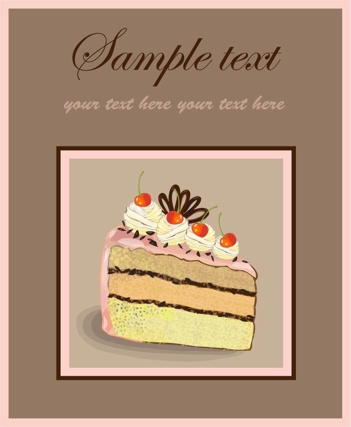 巧克力蛋糕矢量素材1eps